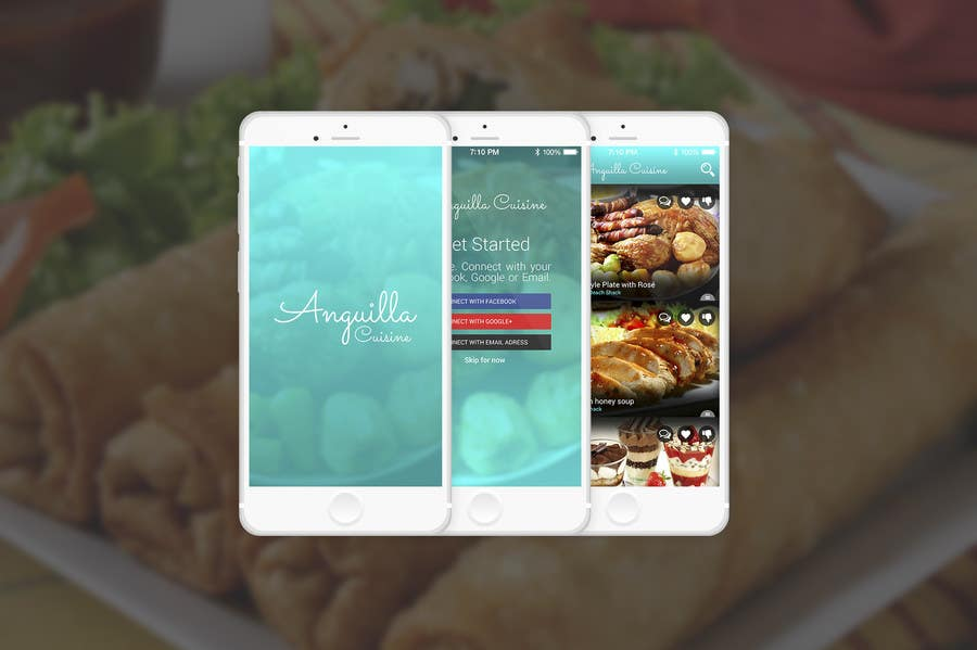 Contest Entry #                                        14                                      for                                         Anguilla Cuisine App UI Mockup