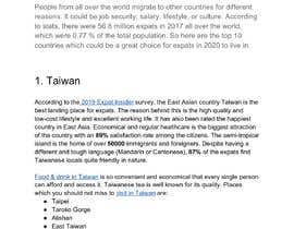 #28 untuk Need article about top 10 best countries for expats oleh pratyaychauhan8