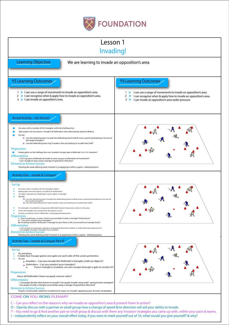Penyertaan Peraduan #                                        14                                      untuk                                         Create a template for my soccer Scheme of work from my existing PDF to make look better