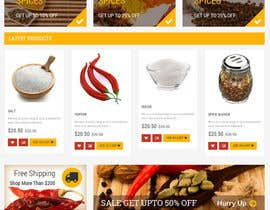 #13 for Design for a completely new online shop, selling spices -- 2 by BRcreation