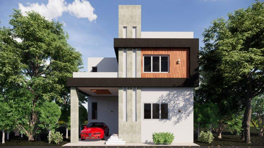 Bài tham dự cuộc thi #                                        17                                      cho                                         3D Modern Elevation of house and suggest any improvement in map