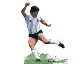 #10 for Diego maradona graffiti canvas art by mdkaiyum7798