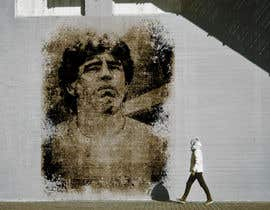 #12 for Diego maradona graffiti canvas art by znipi