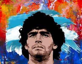 #14 for Diego maradona graffiti canvas art by NaeemGFX01