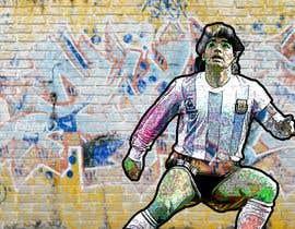 #84 for Diego maradona graffiti canvas art by rakaat265