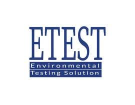 "#56 cho See attached flyer. I need a modern looking logo for our new company ""ETest, Inc."" Please add as part of logo,""Environmental Testing Solutions"". bởi mahfuz45"