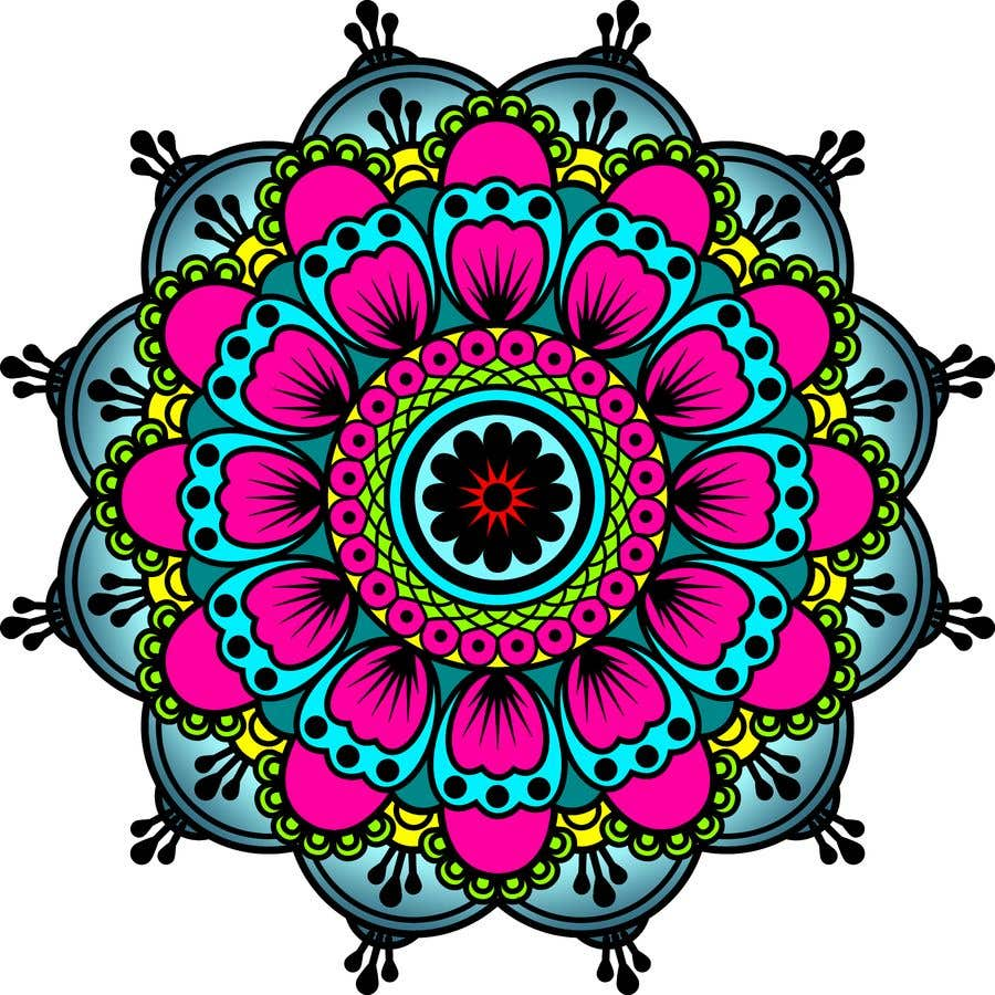 Penyertaan Peraduan #                                        5                                      untuk                                         I need the below mandalas colored interior, and lines if needed. All 15.  if the job is good i will provide more work for youq