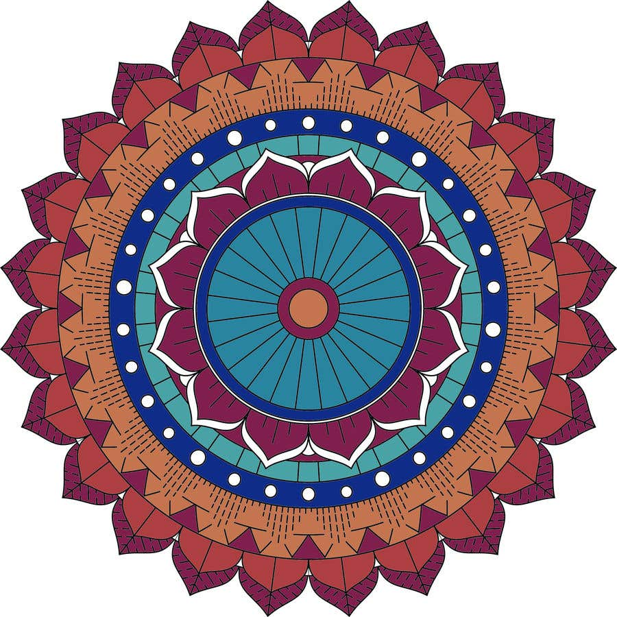 Penyertaan Peraduan #                                        12                                      untuk                                         I need the below mandalas colored interior, and lines if needed. All 15.  if the job is good i will provide more work for youq