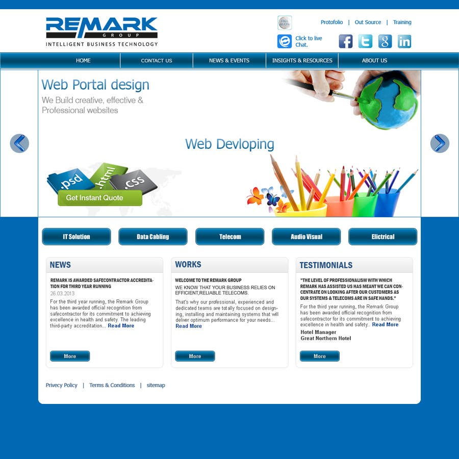 #5 for Website Design for IT Company by santanubera9