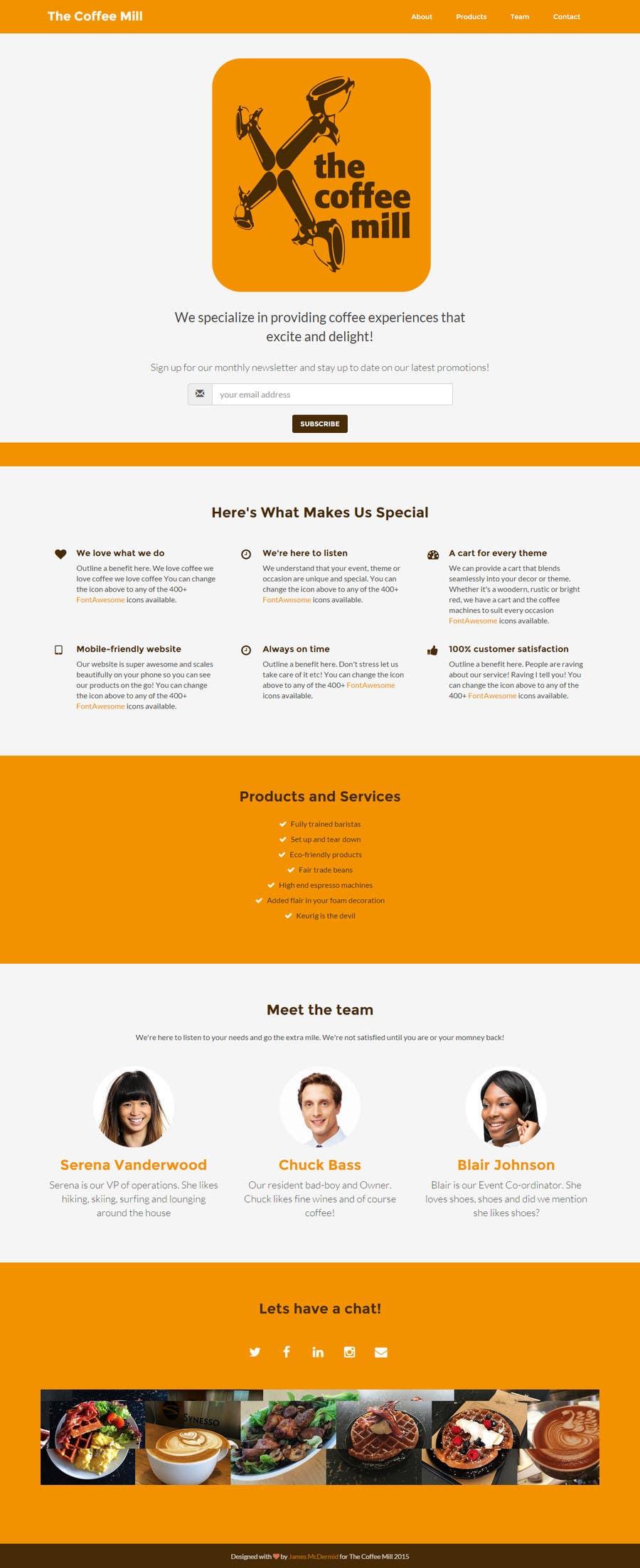 Konkurrenceindlæg #                                        6                                      for                                         Design a Website Mockup for a Mobile Coffee Business