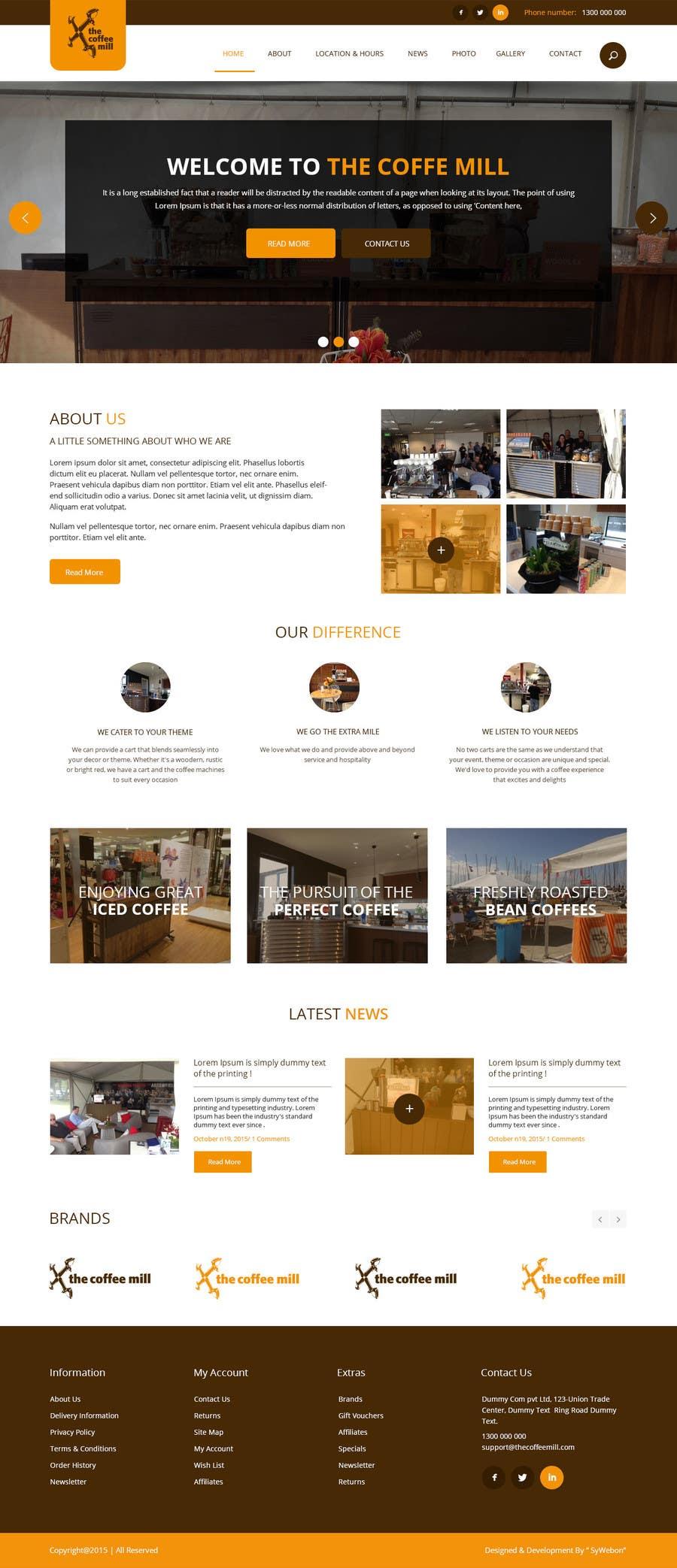 Konkurrenceindlæg #                                        29                                      for                                         Design a Website Mockup for a Mobile Coffee Business