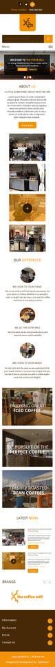 Konkurrenceindlæg #                                                29                                              billede for                                                 Design a Website Mockup for a Mobile Coffee Business