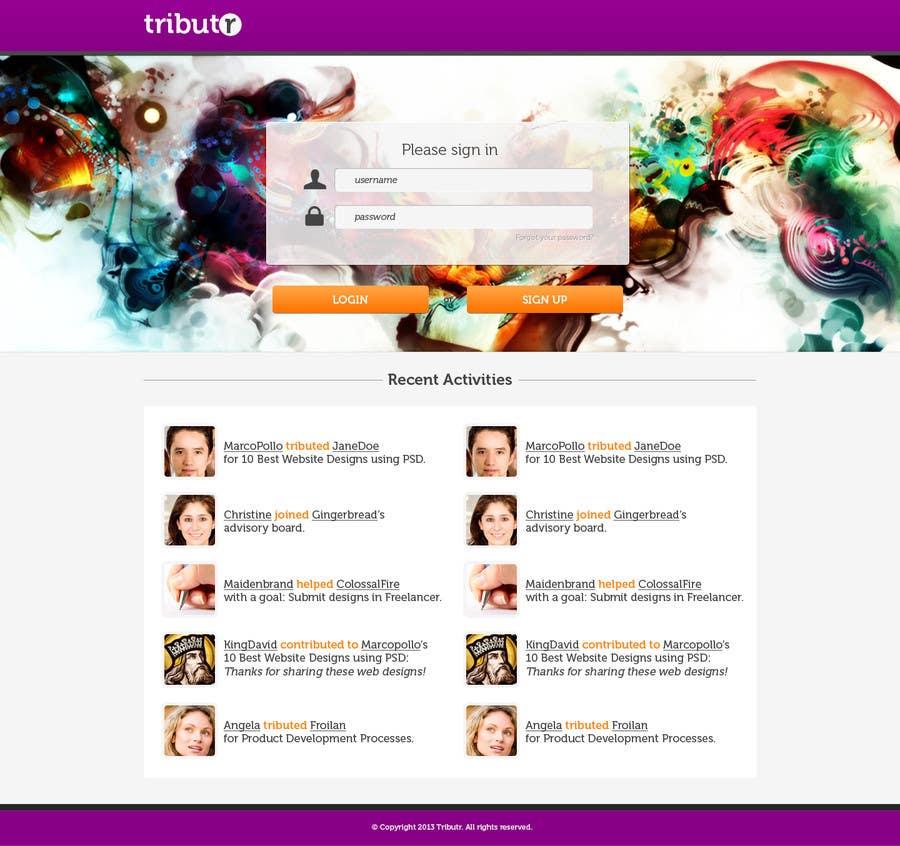 Proposition n°8 du concours Website Layout and Design for New Mega-Platform: Tributr