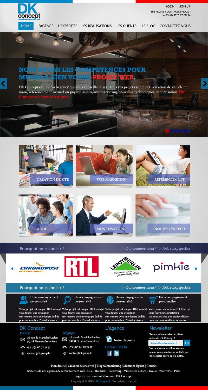 Kilpailutyö #6 kilpailussa Website Design for company group