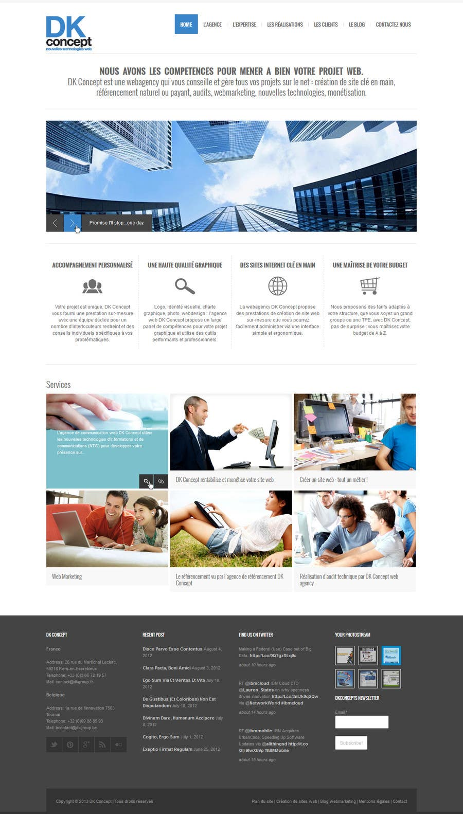 Proposition n°23 du concours Website Design for company group