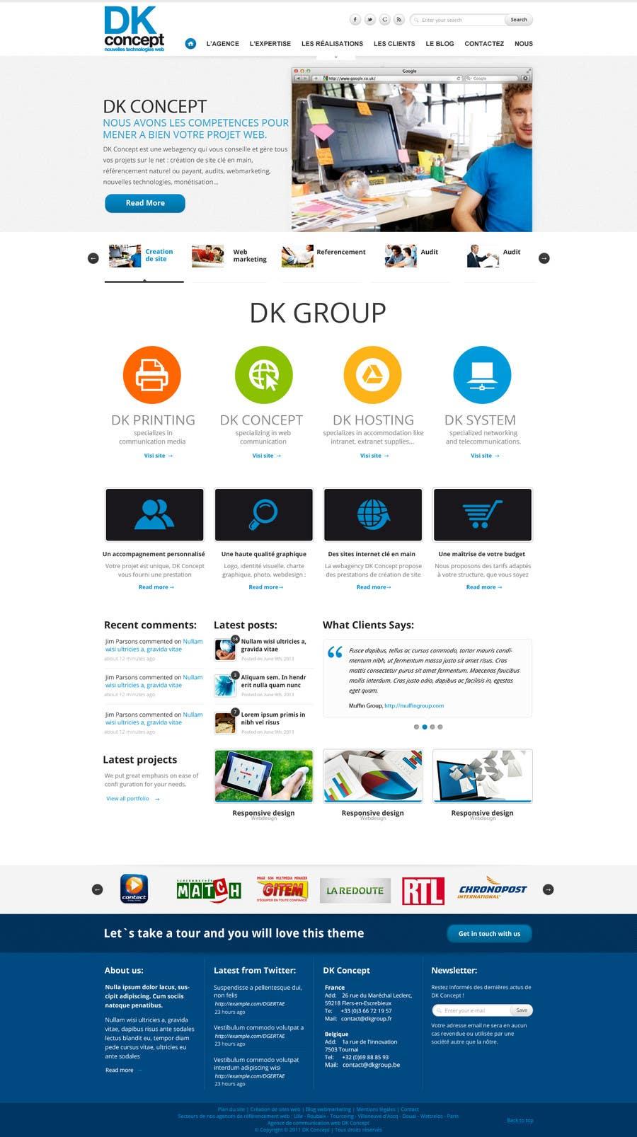 Kilpailutyö #31 kilpailussa Website Design for company group
