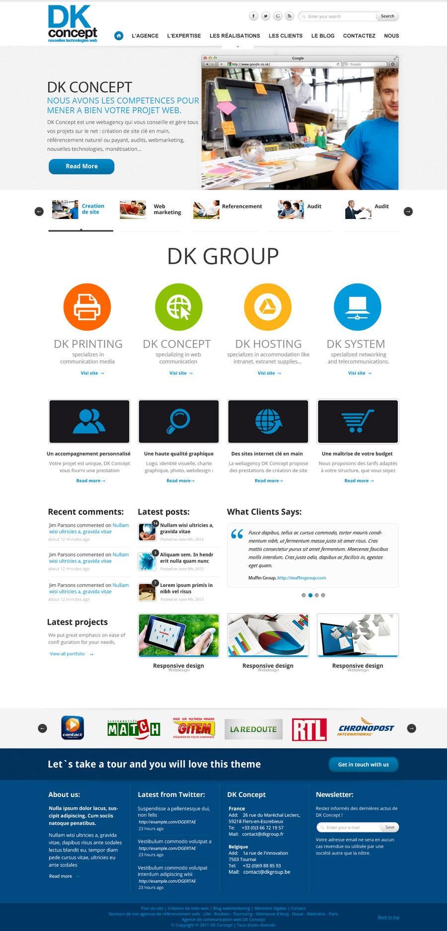 Proposition n°32 du concours Website Design for company group
