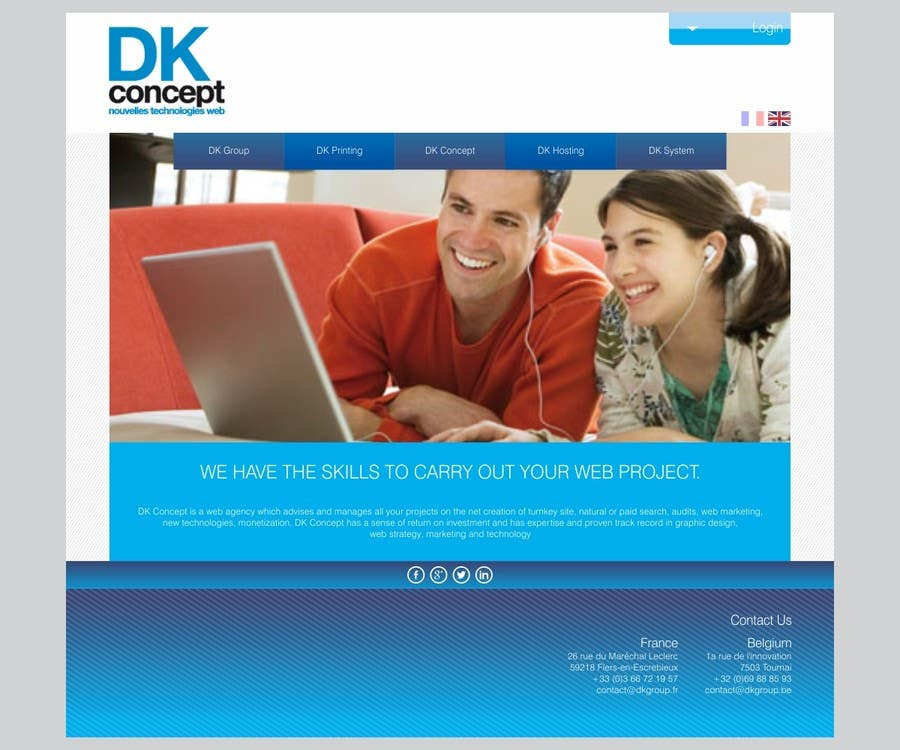 Proposition n°4 du concours Website Design for company group