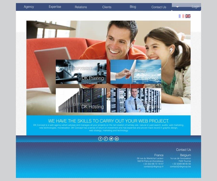 Proposition n°29 du concours Website Design for company group