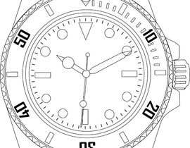 GhaithAlabid tarafından Need to raw illustration of a Rolex watch için no 12