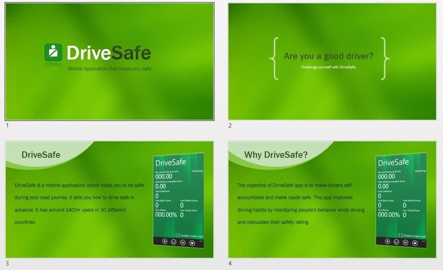 Proposition n°                                        28                                      du concours                                         Design PowerPoint presentation for a mobile app