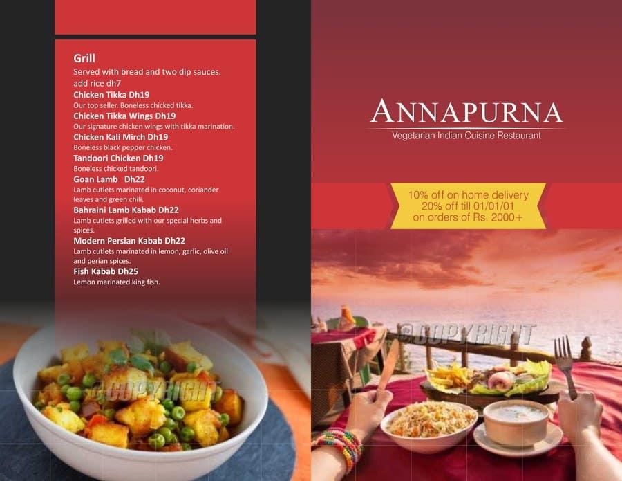 Konkurrenceindlæg #                                        2                                      for                                         Flyer Design for a small Indian cuisine restaurant