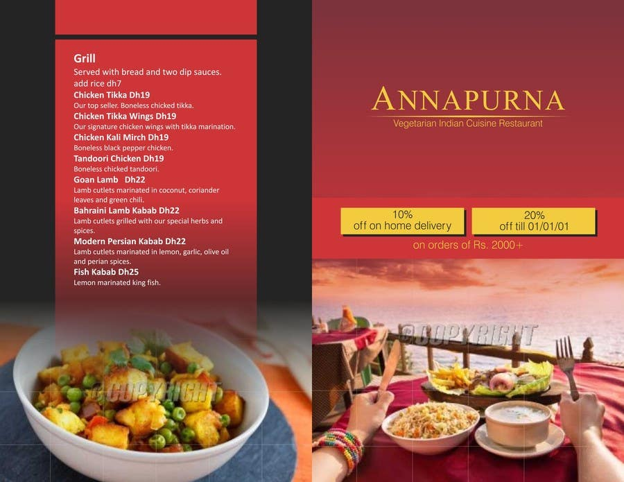 Konkurrenceindlæg #                                        4                                      for                                         Flyer Design for a small Indian cuisine restaurant