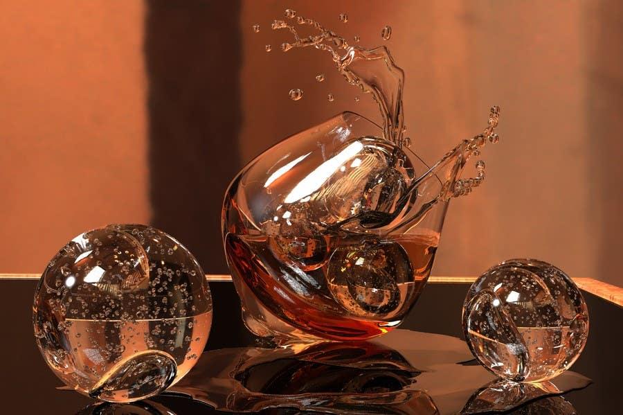 Penyertaan Peraduan #18 untuk Create a capturing illustration of ice balls with splash