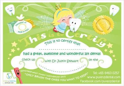 Nro 4 kilpailuun Illustrate Something for Kids Dental Certificate käyttäjältä mogado