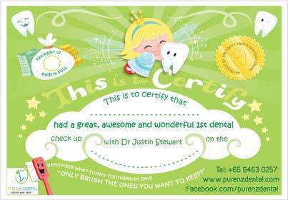 Nro 7 kilpailuun Illustrate Something for Kids Dental Certificate käyttäjältä mogado
