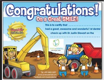 Nro 10 kilpailuun Illustrate Something for Kids Dental Certificate käyttäjältä mogado