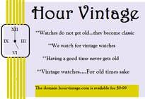 Bài tham dự #114 về Marketing cho cuộc thi Vintage watches retailer name and baseline