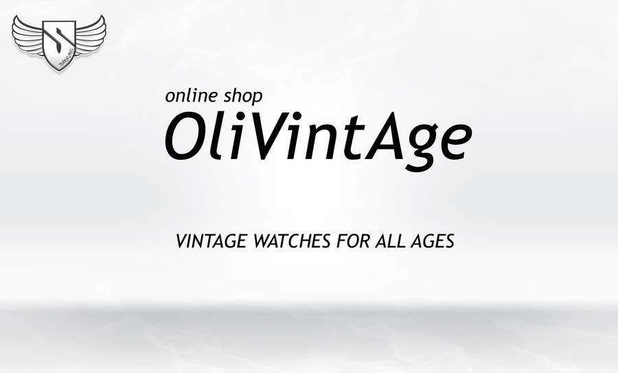 Bài tham dự cuộc thi #74 cho Vintage watches retailer name and baseline