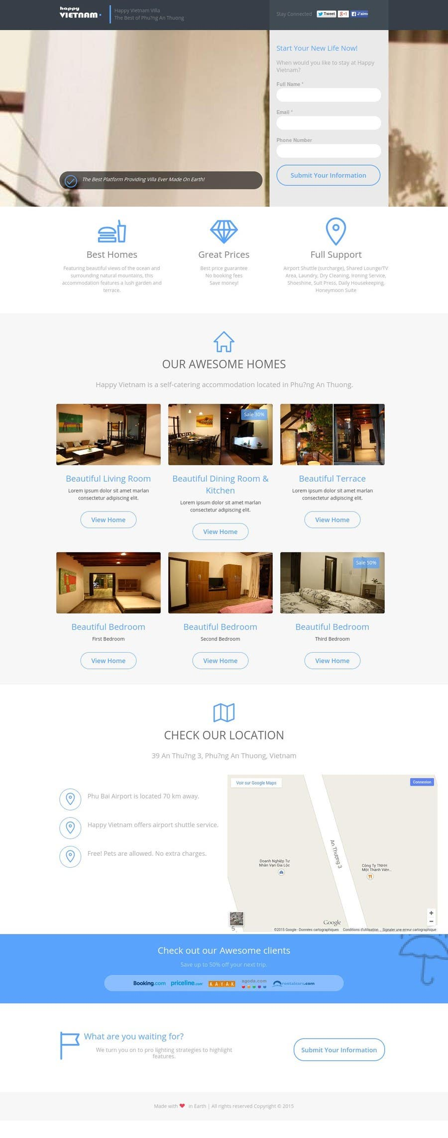 Contest Entry #                                        6                                      for                                         Simple web page for our villa