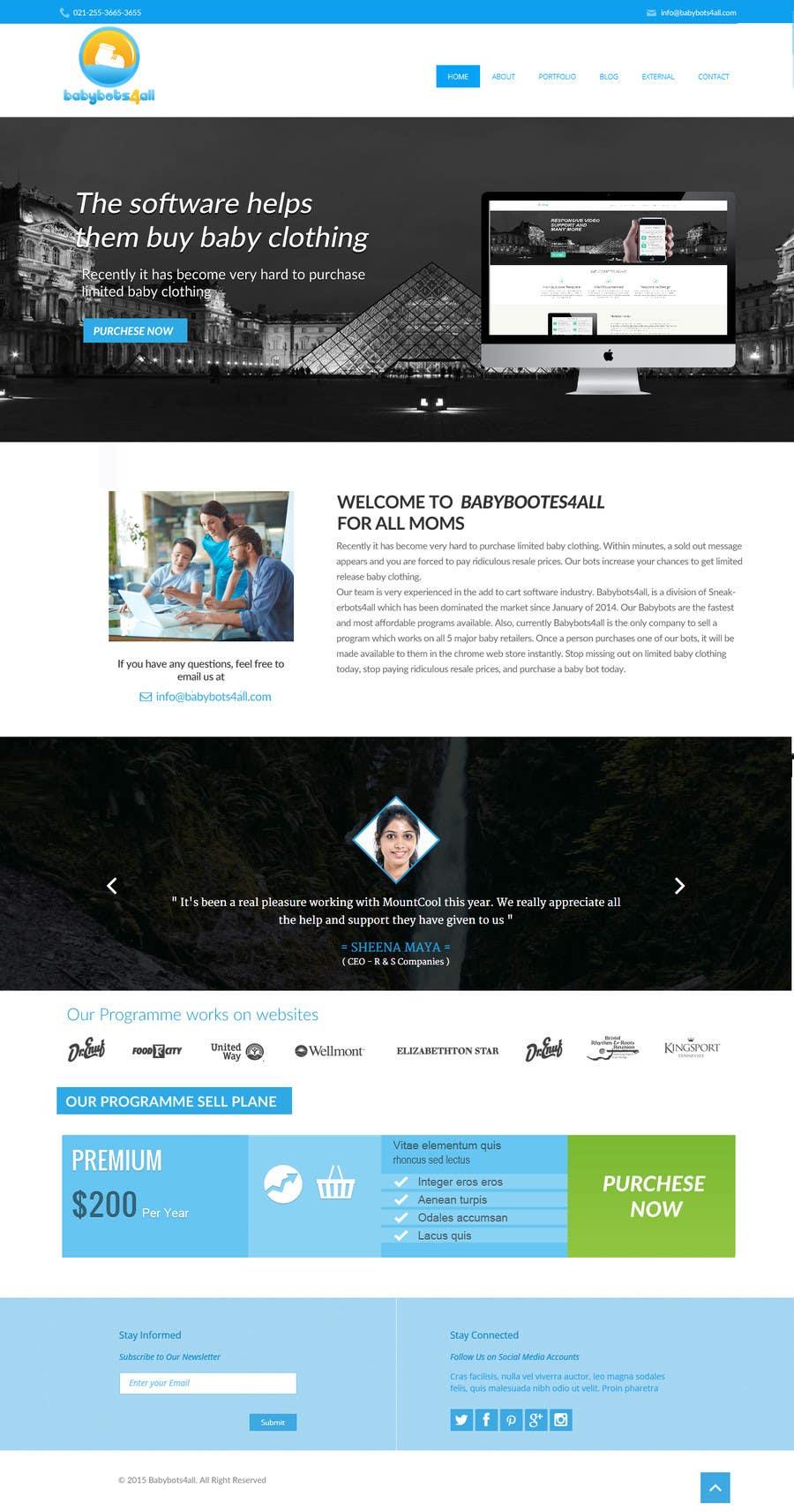 Contest Entry #                                        2                                      for                                         Design a Website Mockup for Babybots4all.com