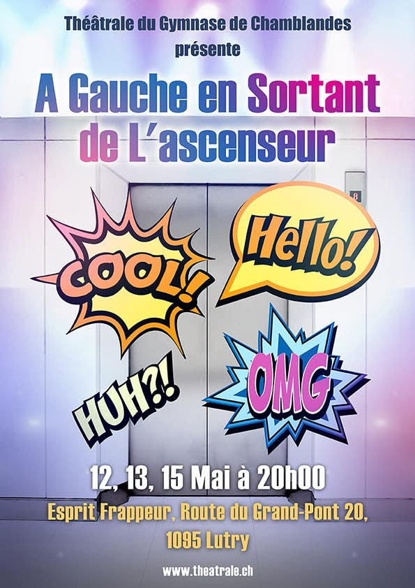 Proposition n°                                        16                                      du concours                                         Design a Flyer for Theatrical Comedy