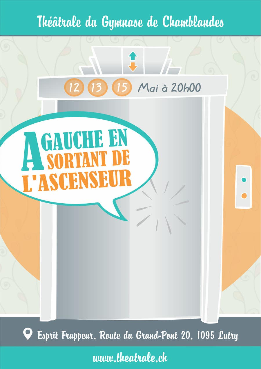 Proposition n°                                        15                                      du concours                                         Design a Flyer for Theatrical Comedy