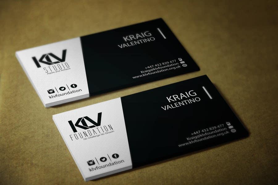 Konkurrenceindlæg #                                        187                                      for                                         Design some Business Cards for KLV Studio