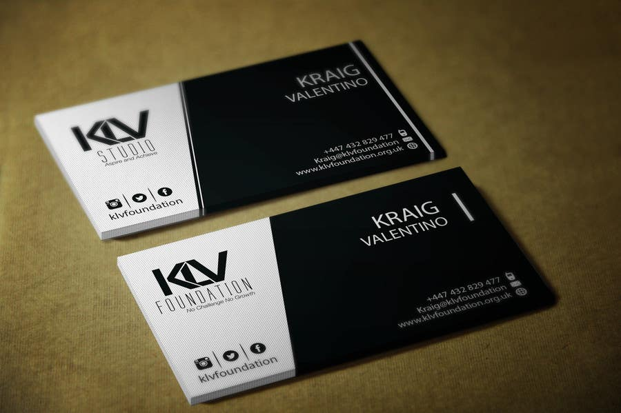 Konkurrenceindlæg #                                        189                                      for                                         Design some Business Cards for KLV Studio