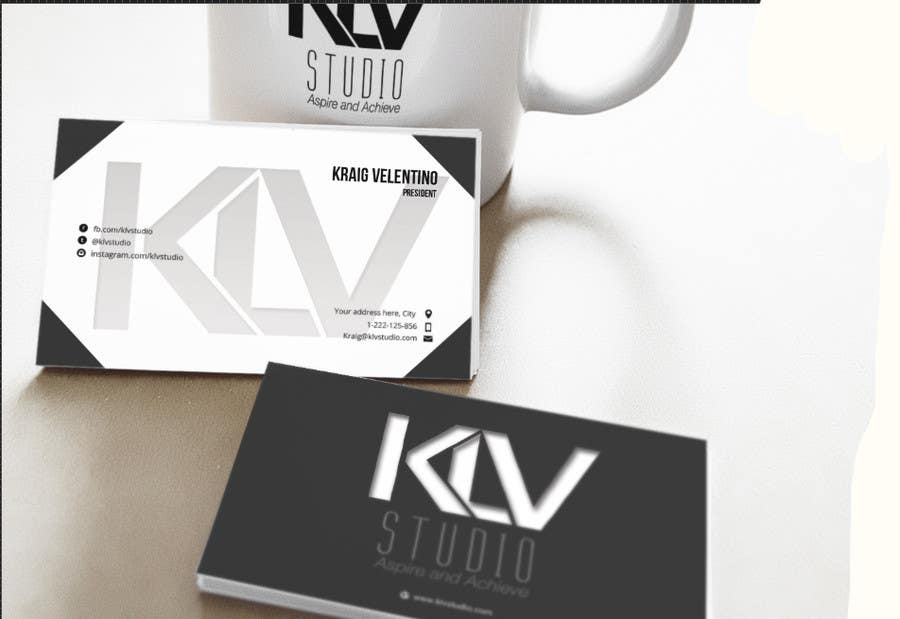 Konkurrenceindlæg #                                        144                                      for                                         Design some Business Cards for KLV Studio