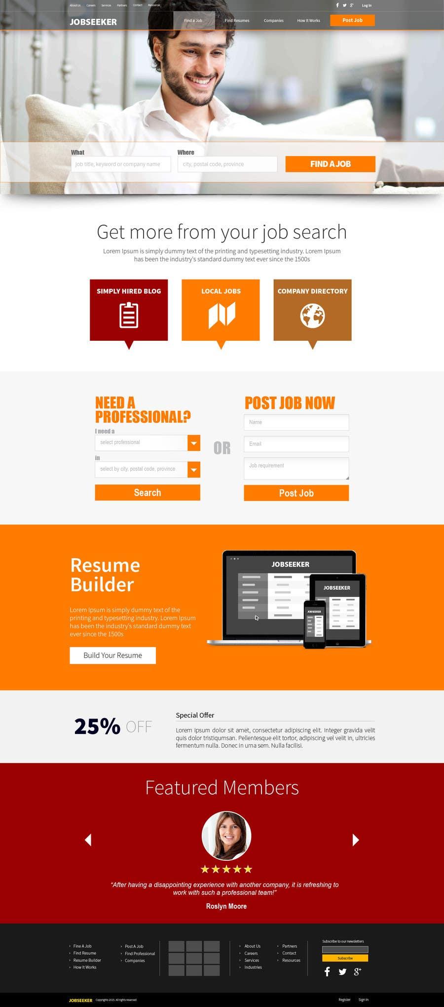 Konkurrenceindlæg #55 for Design a Website Mockup for a Job Search Engine