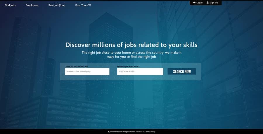 Konkurrenceindlæg #48 for Design a Website Mockup for a Job Search Engine