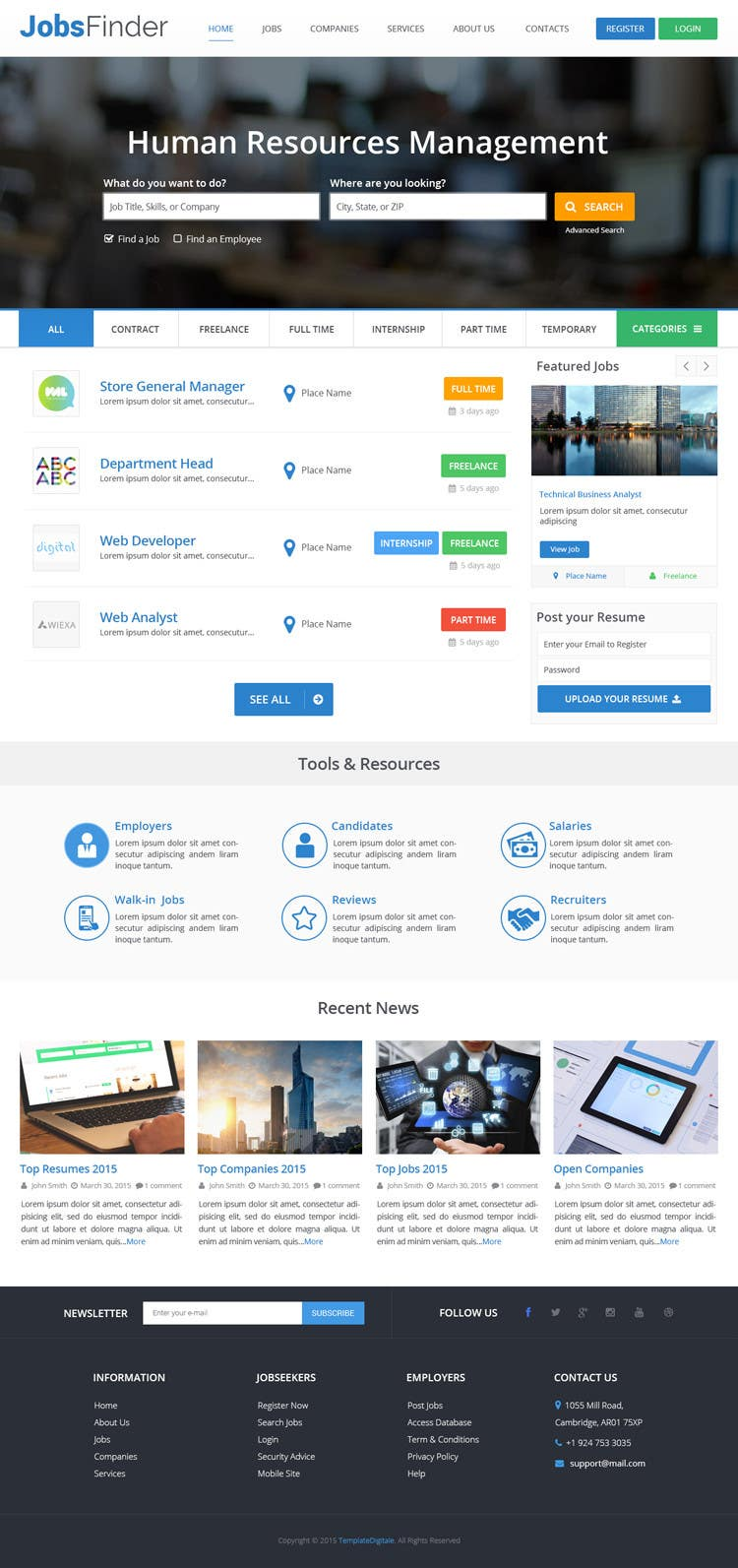 Konkurrenceindlæg #64 for Design a Website Mockup for a Job Search Engine