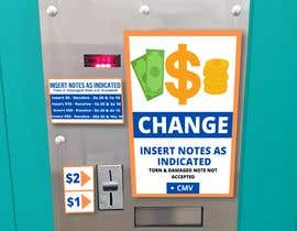 #16 for Design a sticker for a change machine by Javid235m