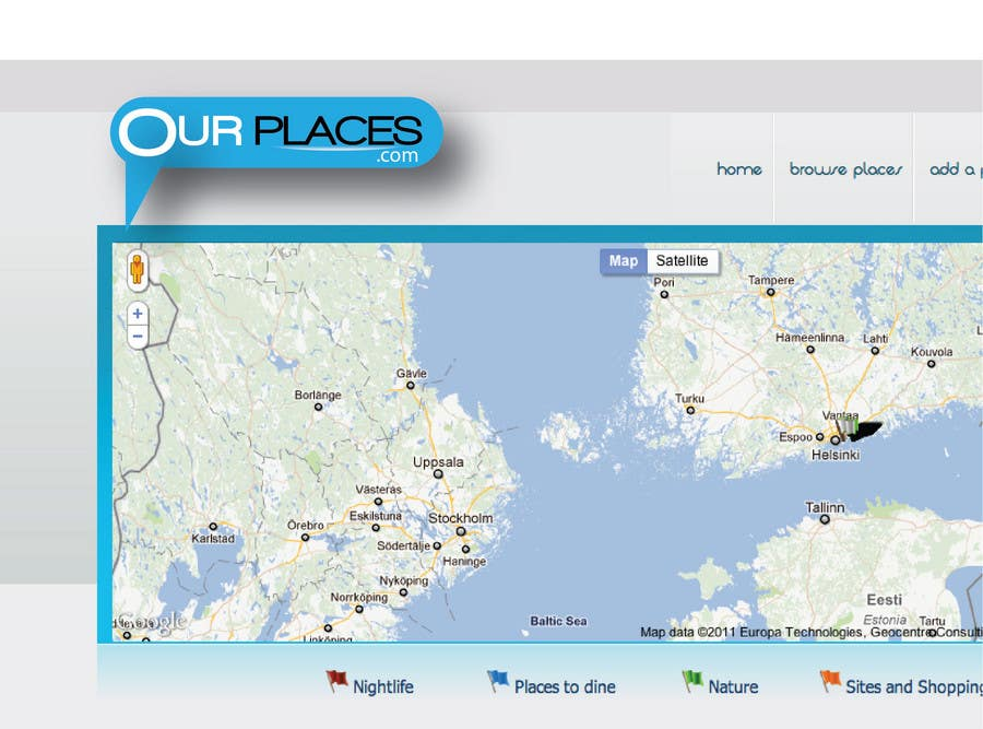 Bài tham dự cuộc thi #258 cho Logo Customizing for Web startup. Ourplaces Inc.
