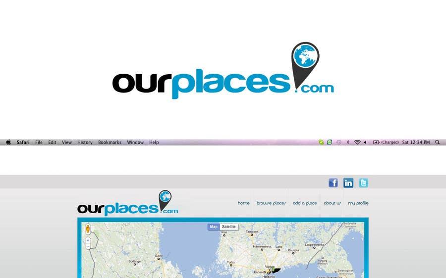 Penyertaan Peraduan #190 untuk Logo Customizing for Web startup. Ourplaces Inc.