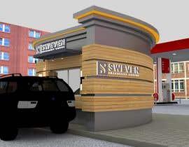 #69 para Design 3d drive-thru coffeeshop por Creative3dArtist