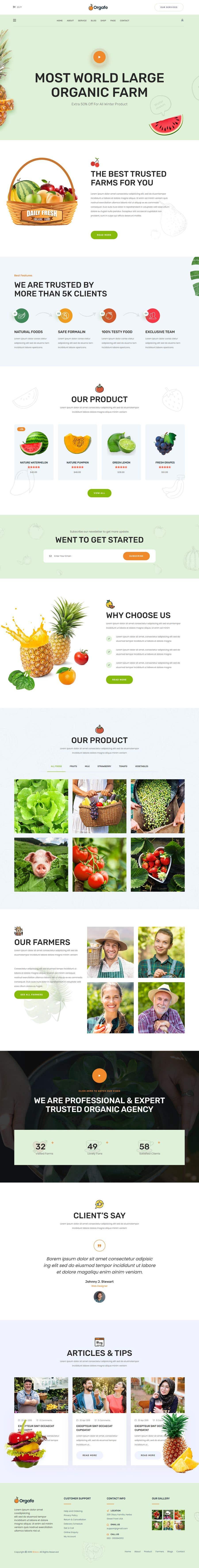 Penyertaan Peraduan #                                        39                                      untuk                                         Home page for online bio organic shop