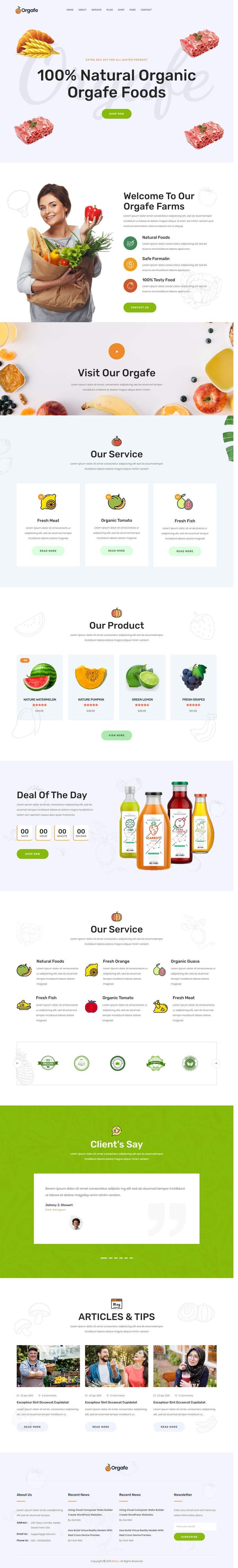 Penyertaan Peraduan #                                        41                                      untuk                                         Home page for online bio organic shop