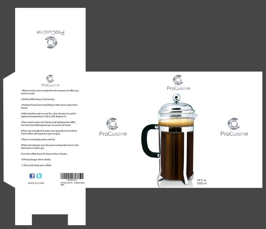 Proposition n°11 du concours Create simple packaging for coffee maker